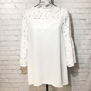 Halogen Lace Bell Sleeve Blouse